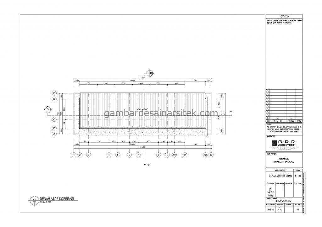 Denah Atap Koprasi Gambar Desain Bangunan Sekolah Boarding School