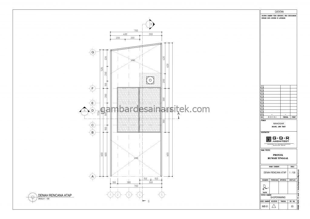Denah Gambar Desain Rumah 2 Lantai 7x18 4