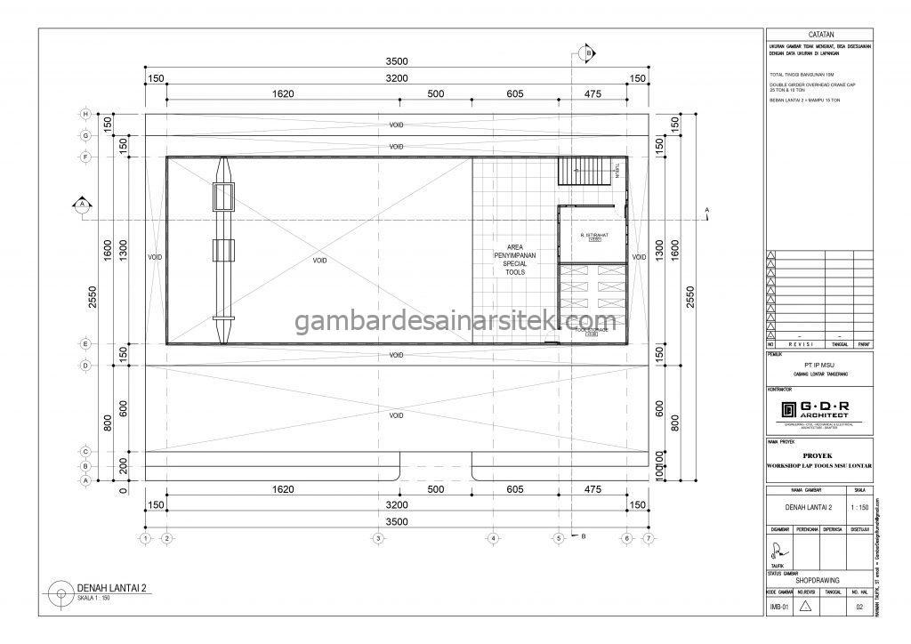 Denah Gambar Desain Workshop Tools 2 Lantai 4