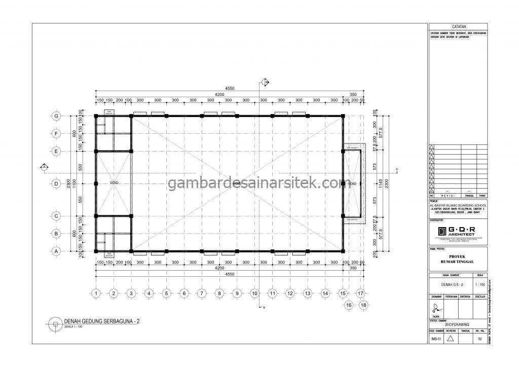 Denah Gedung Sebaguna 2 Gambar Desain Bangunan Sekolah Boarding School