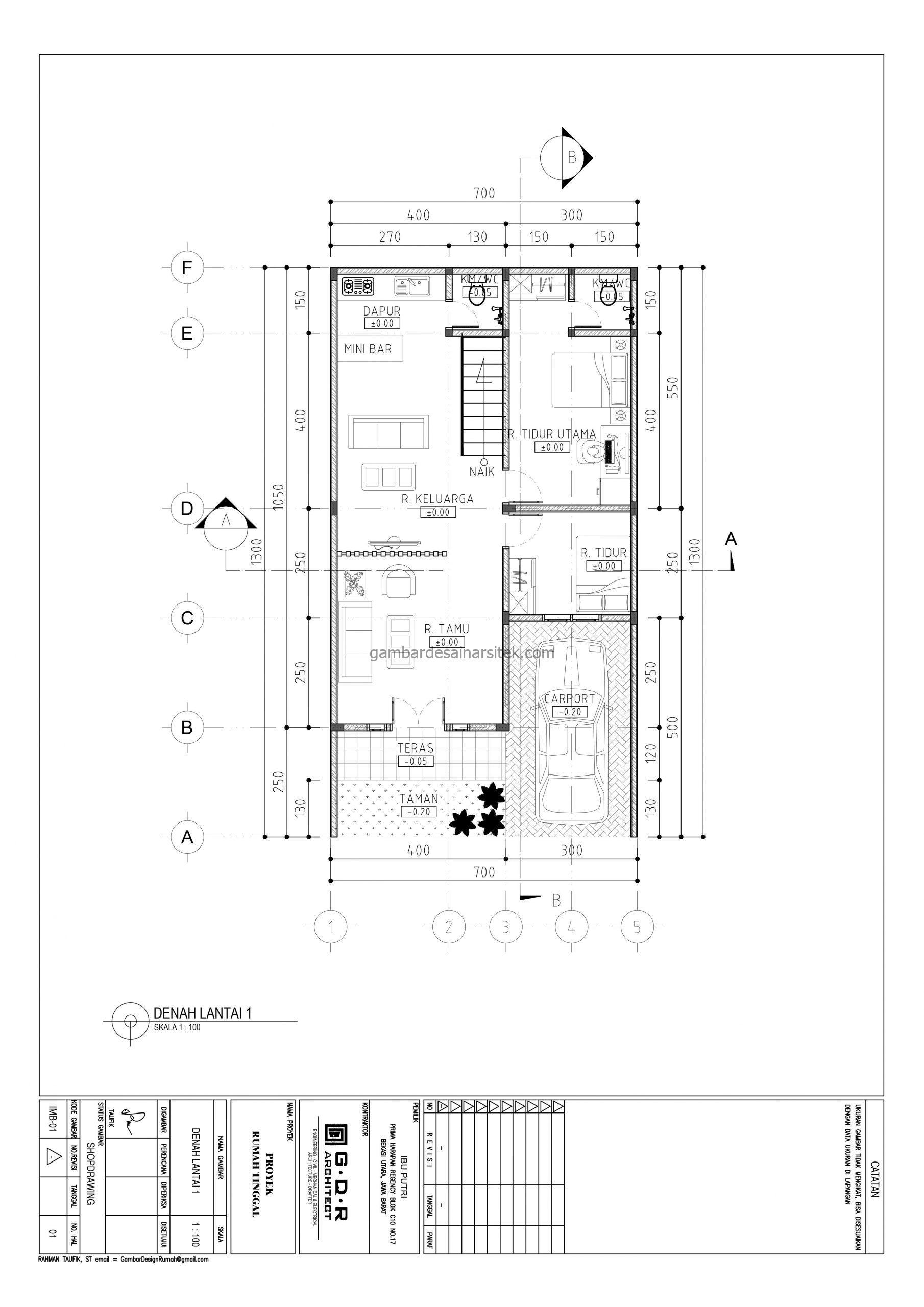 Denah Lantai 1 Gambar Desain Rumah 2 Lantai Pagar Unik 3 scaled