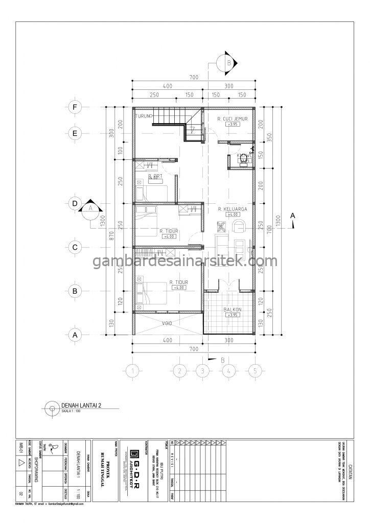 Denah Lantai 2 Gambar Desain Rumah 2 Lantai Pagar Unik 4
