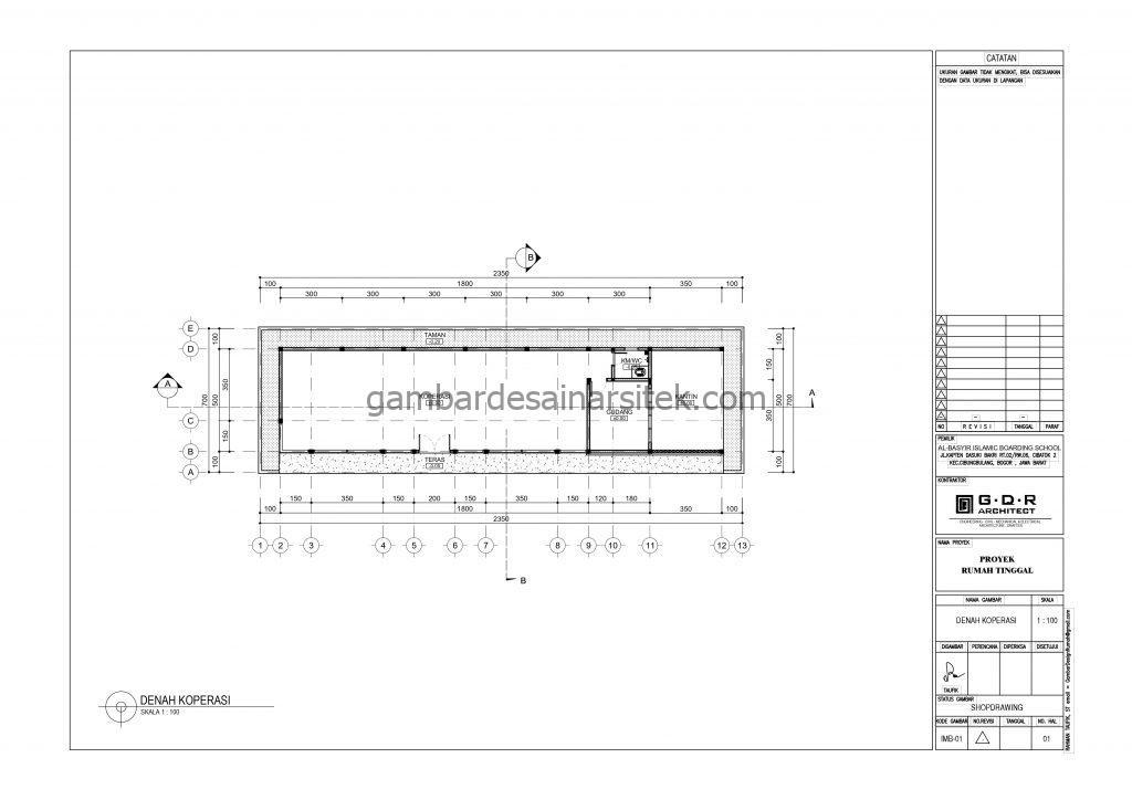 Denah Lokasi Gambar Desain Bangunan Sekolah Boarding School
