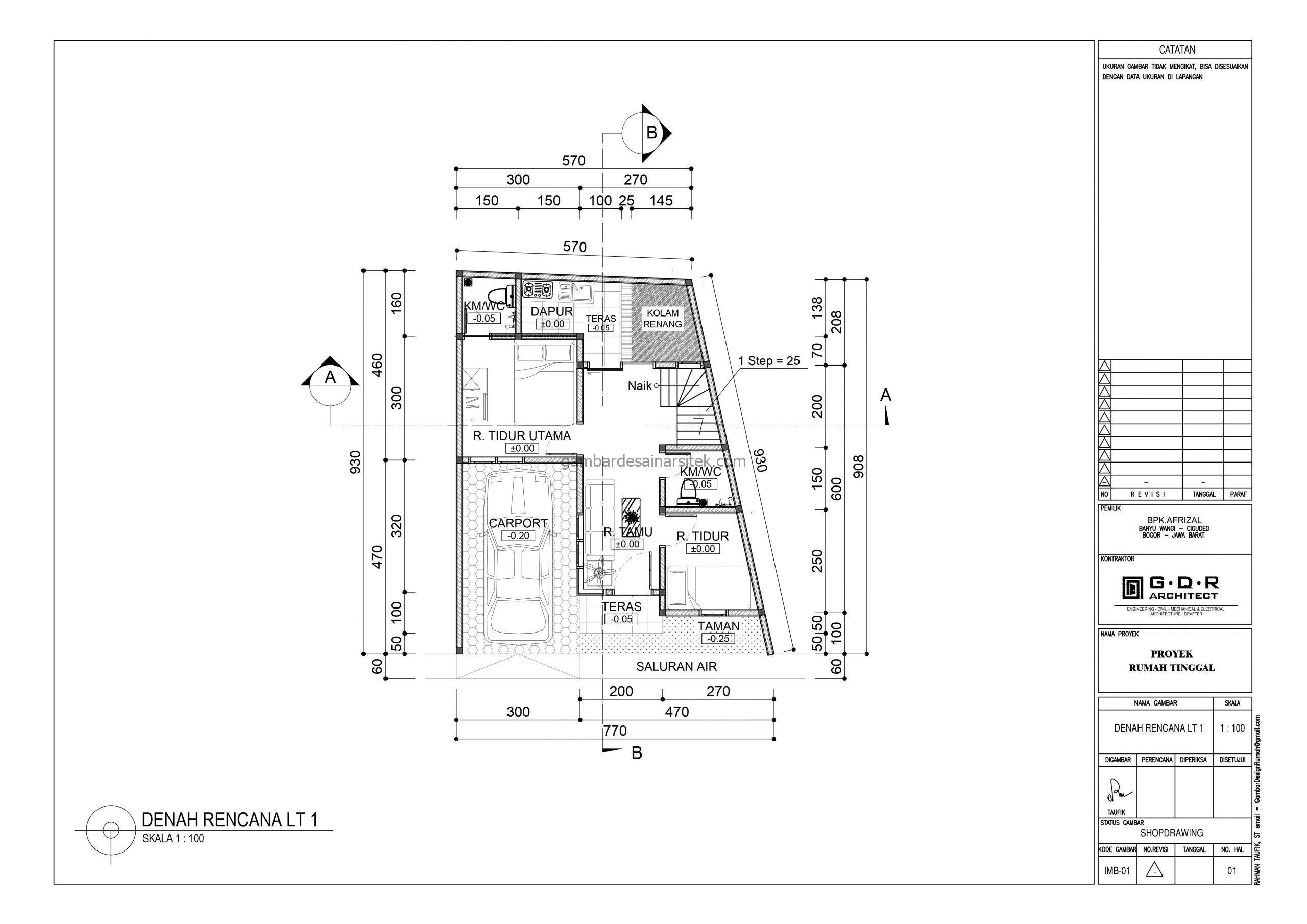 Denah lantai 1 Gambar Desain Rumah 2 Lantai Cat Ungu 1 scaled