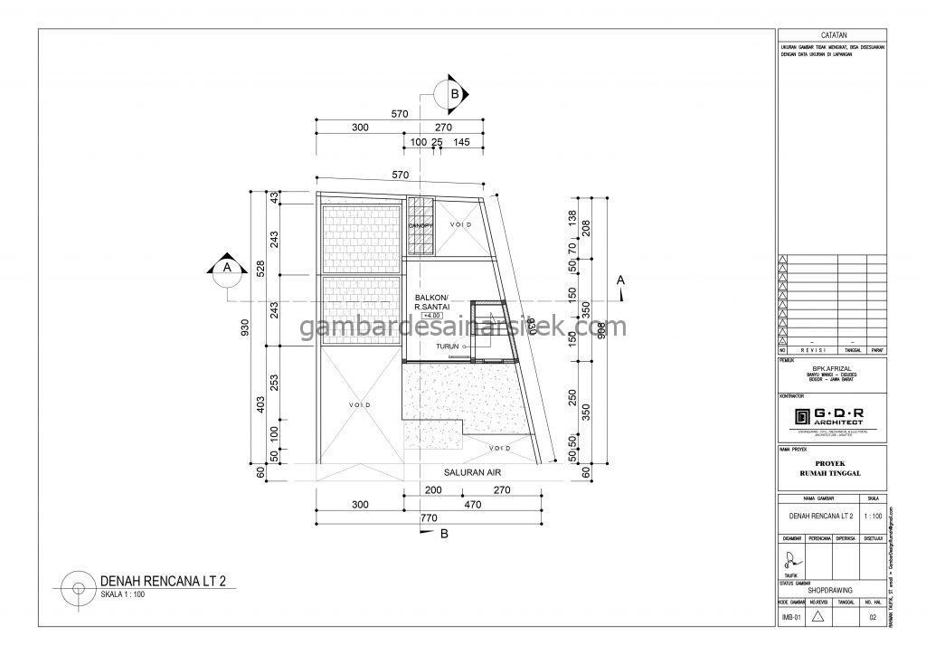 Denah lantai 2 Gambar Desain Rumah 2 Lantai Cat Ungu 2