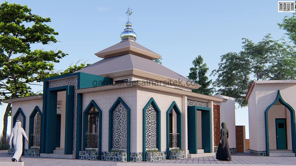 Desain Masjid Minimalis 1 Lantai 104x104 1
