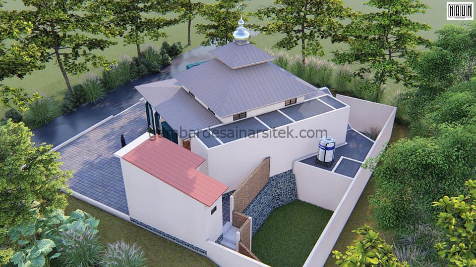 Desain Masjid Minimalis 1 Lantai 104x104 3