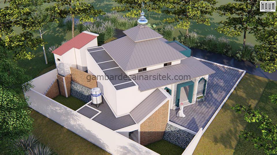 Desain Masjid Minimalis 1 Lantai 104x104 4