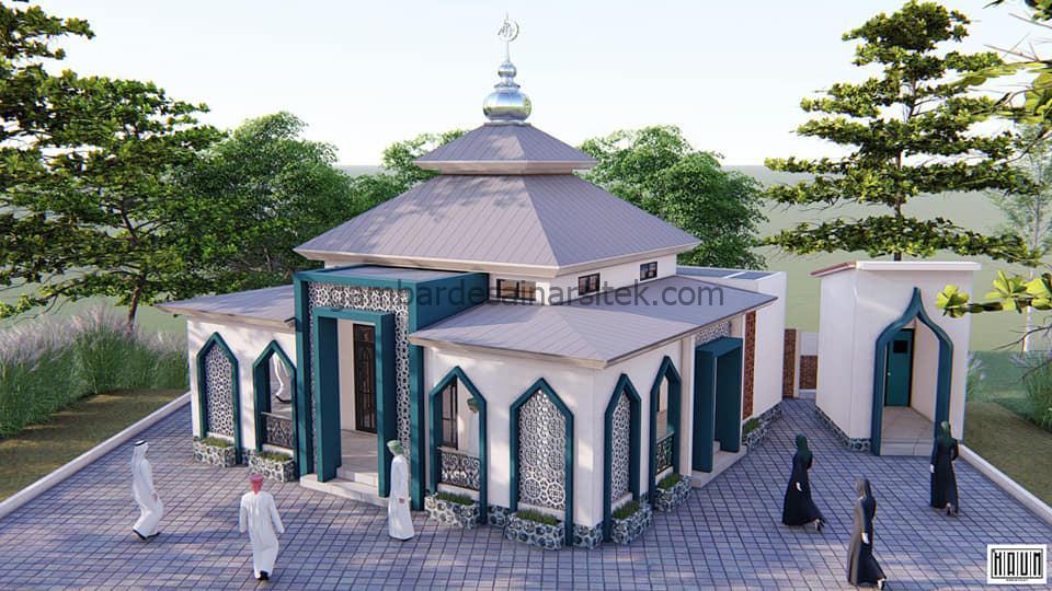 Desain Masjid Minimalis 1 Lantai 104x104 5
