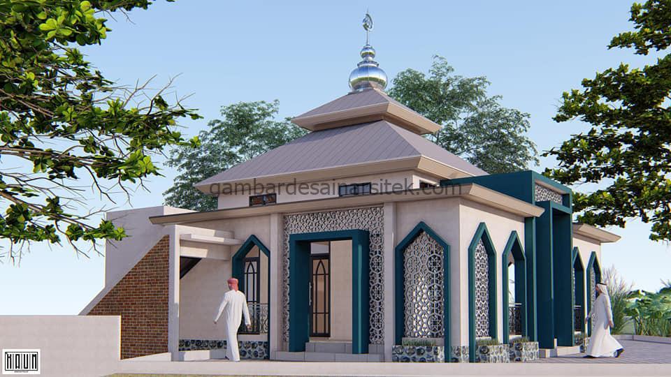 Desain Masjid Minimalis 1 Lantai 104x104 6