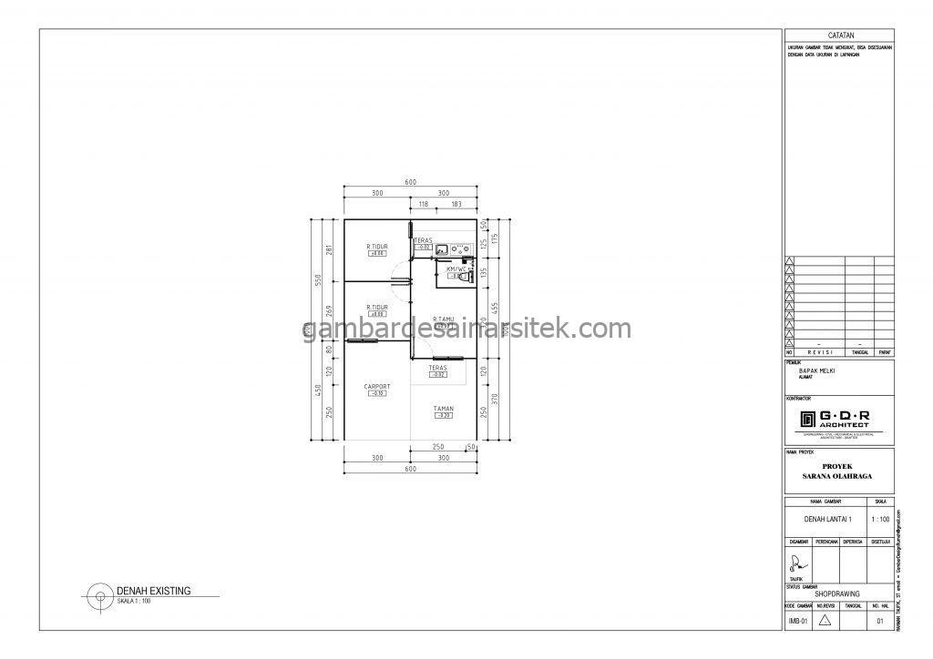 Gambar denah desain rumah minimalis 1 lantai 6x10 1
