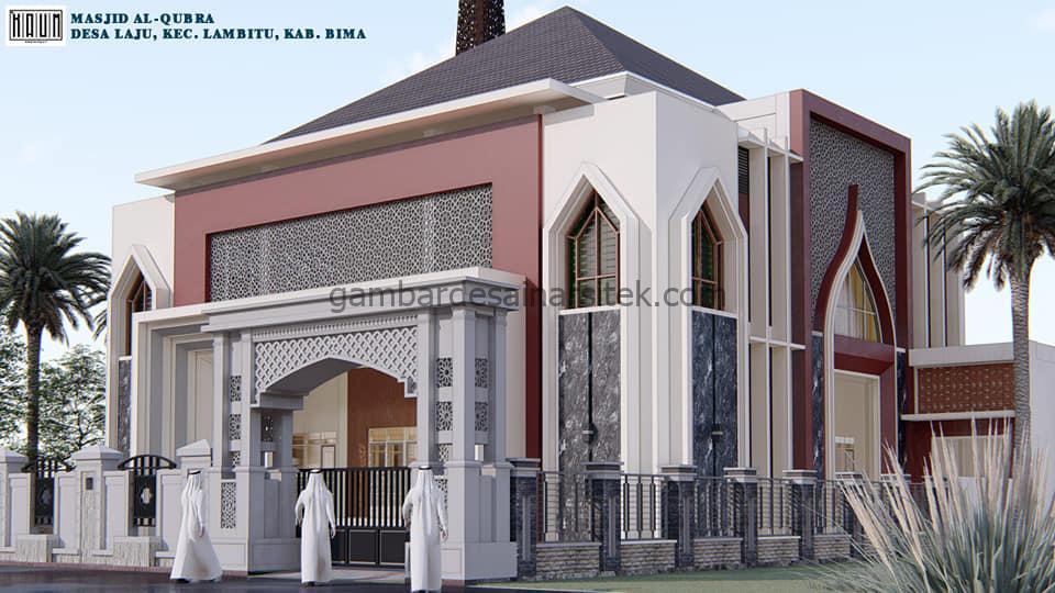 Gerbang Desain Masjid Minimalis 2 Lantai Modern 1