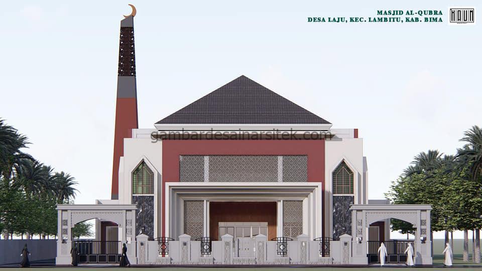 Menara Unik Desain Masjid Minimalis 2 Lantai Modern 3