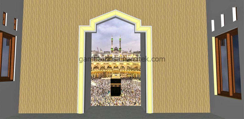 Mihrab Desain mushola 1 lantai 10x10 dan RAB