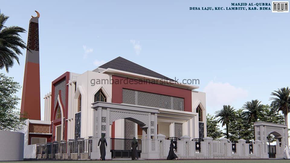 Pagar Desain Masjid Minimalis 2 Lantai Modern 2