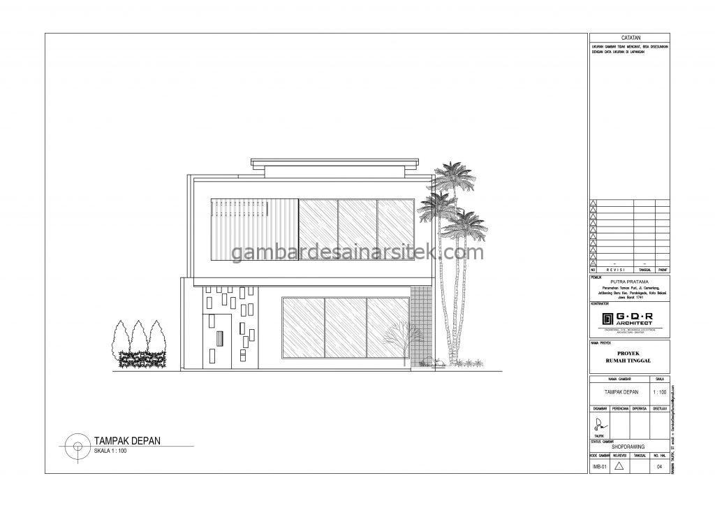 Tampak Gambar Desain Rumah 2 Lantai 11x16 6