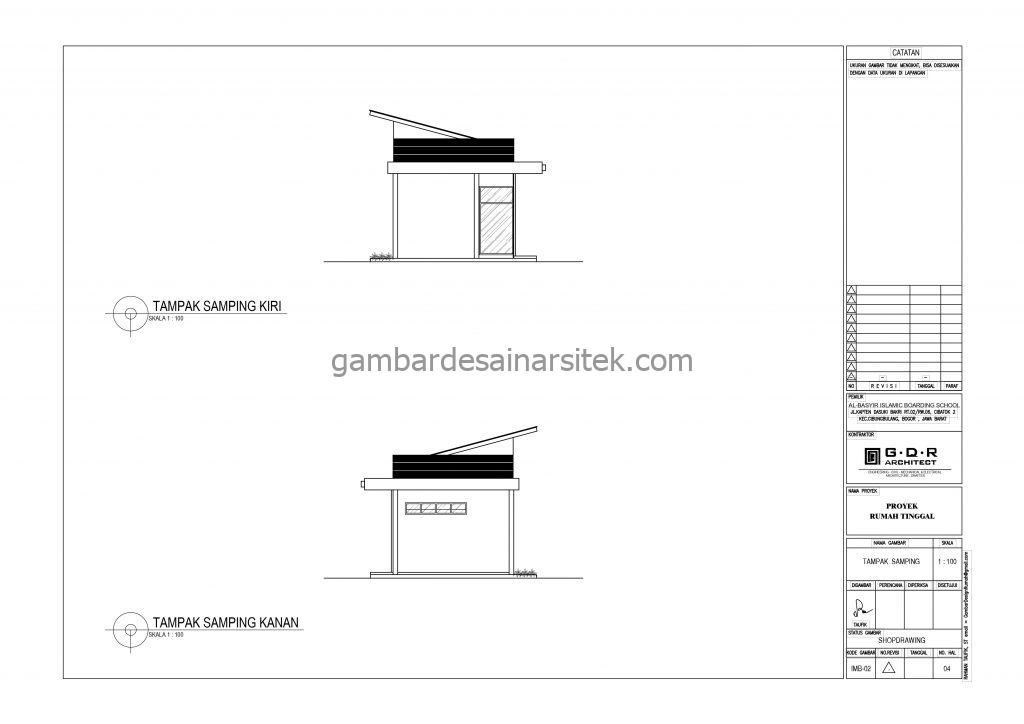 Tampak Samping Kiri Kanan Koperasi Gambar Desain Bangunan Sekolah Boarding School