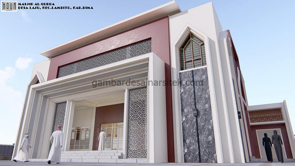 Topi Teras Elegan Desain Masjid Minimalis 2 Lantai Modern 4