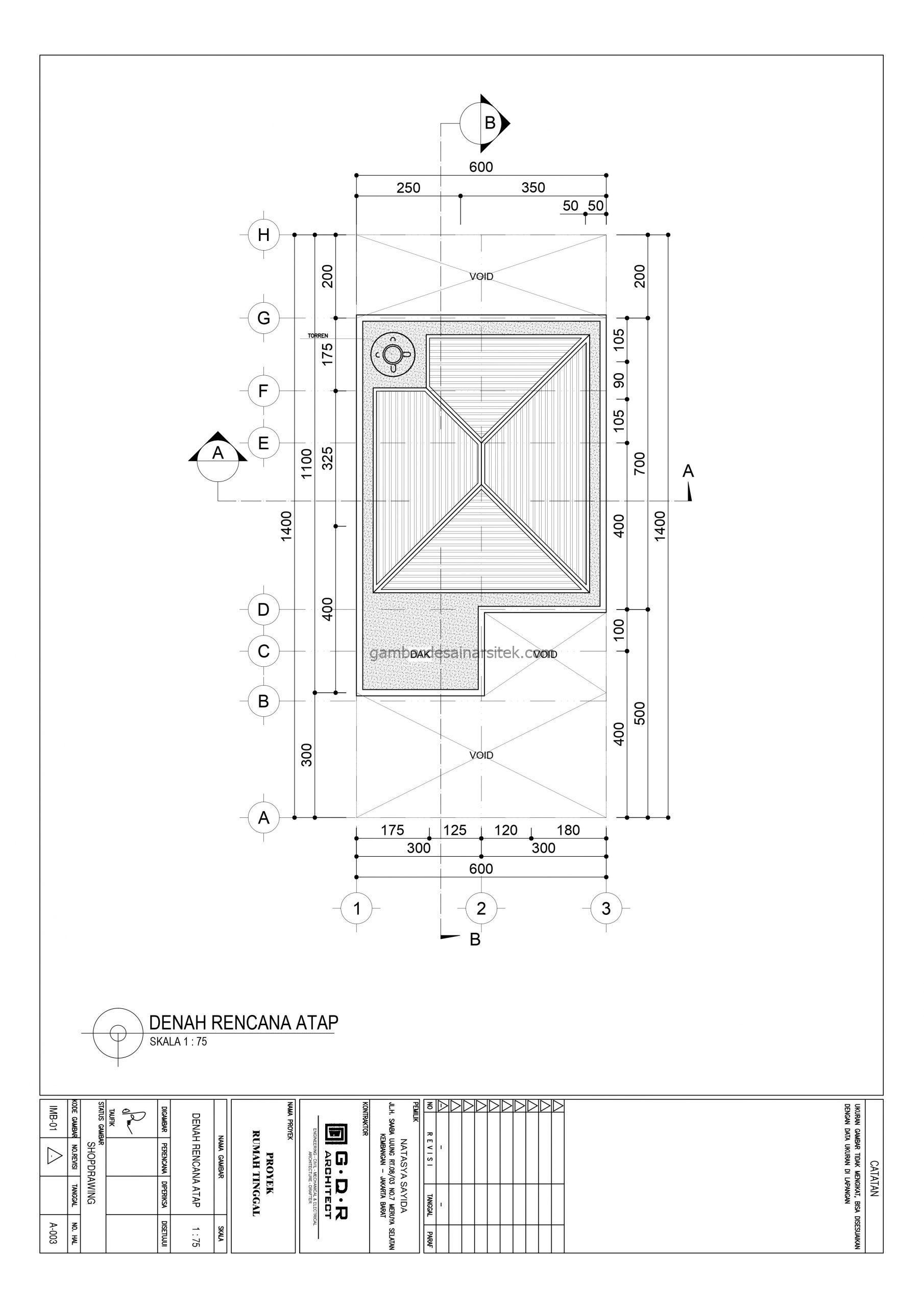 denah atap gambar desain rumah 2 lantai 6x14 5 scaled