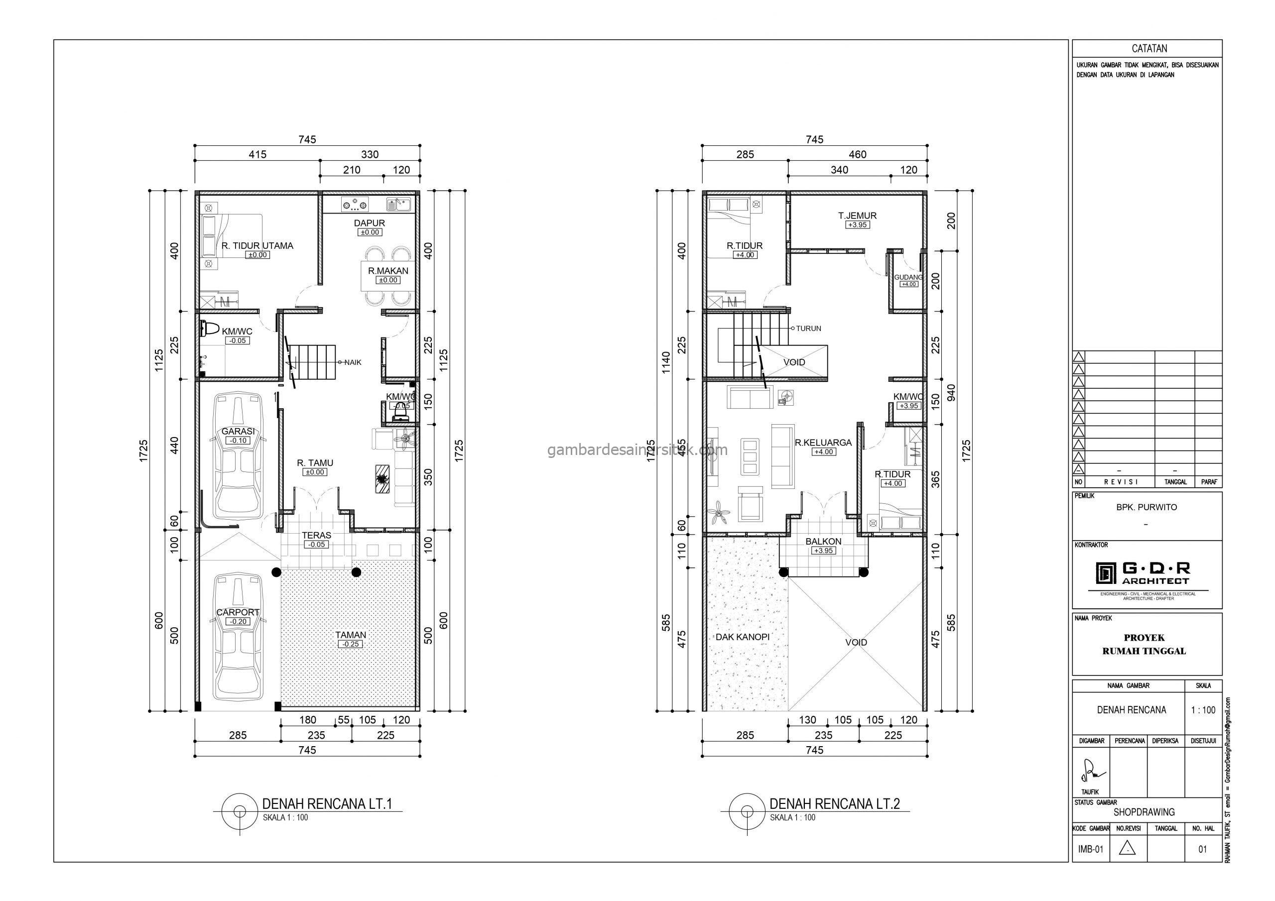 denah gambar desain rumah mewah 2 lantai 7x17 3 scaled