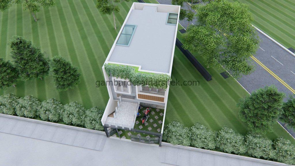 rumah minimalis 2 lantai dengan balkon mezzanine 2
