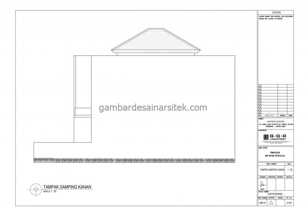 tampak gambar desain rumah 2 lantai 6x14 7