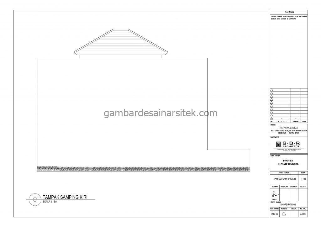 tampak gambar desain rumah 2 lantai 6x14 8
