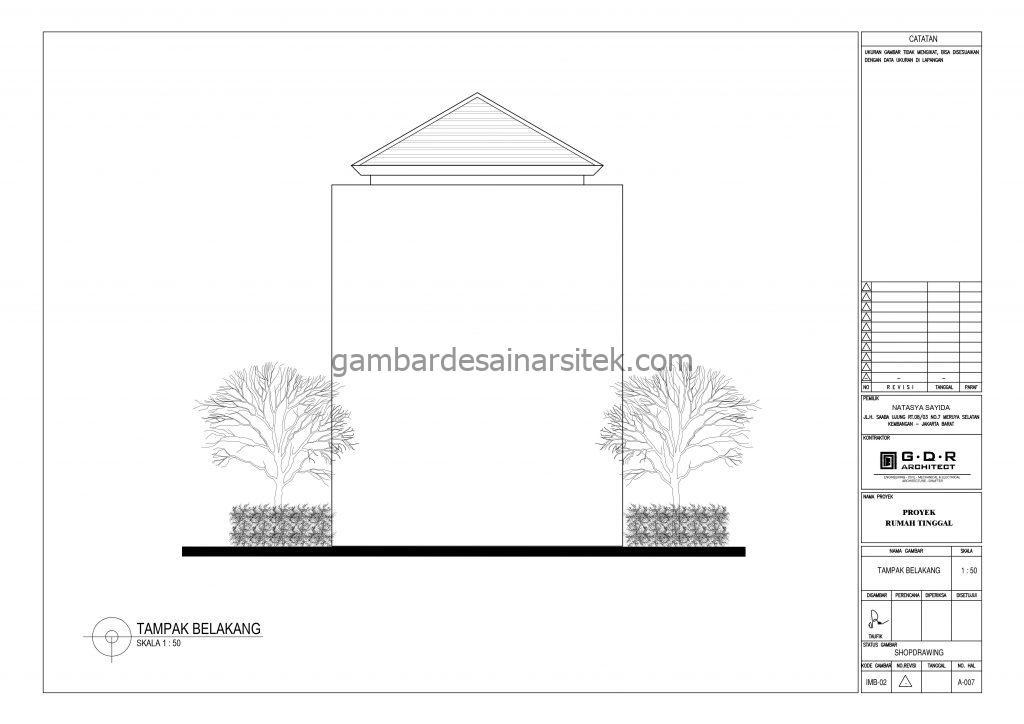 tampak gambar desain rumah 2 lantai 6x14 9