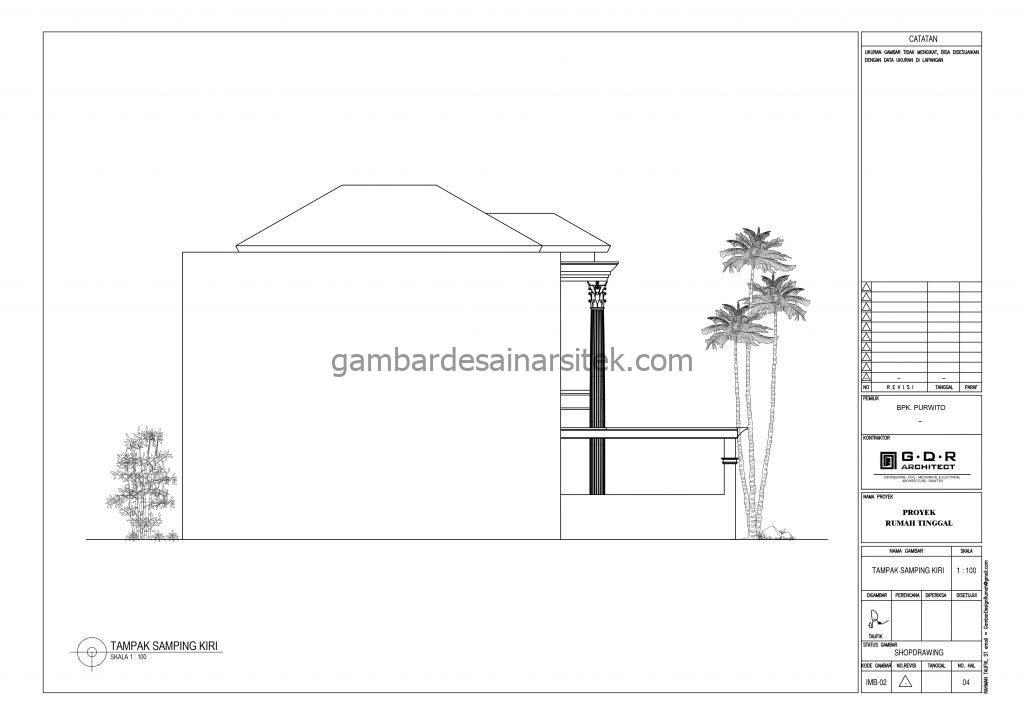 tampak gambar desain rumah mewah 2 lantai 7x17 6