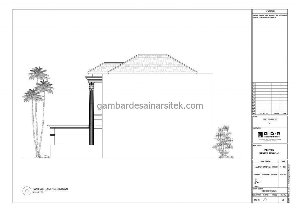 tampak gambar desain rumah mewah 2 lantai 7x17 7