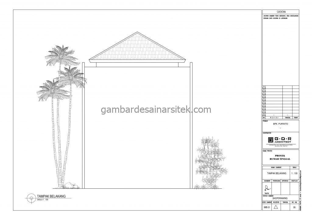 tampak gambar desain rumah mewah 2 lantai 7x17 8