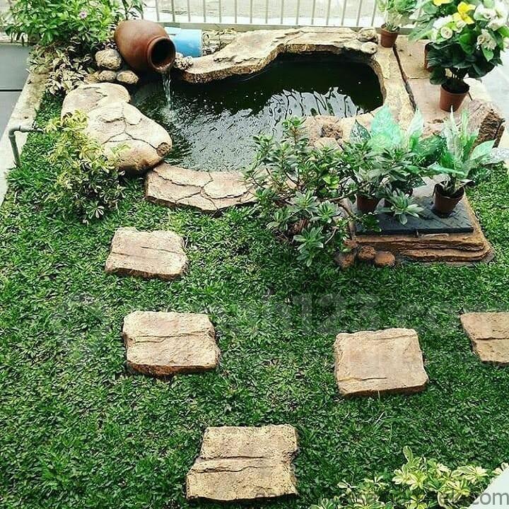 10 inspirasi desain kolam ikan mini untuk lahan sempit rumah123com 14 1