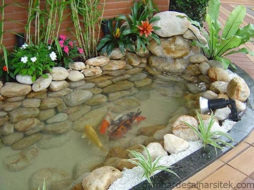 11 desain kolam ikan minimalis depan rumah banyak pilihan 2 1