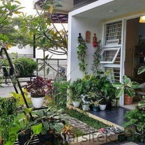 18 inspirasi taman minimalis depan rumah beri kesan asri dan 28 1