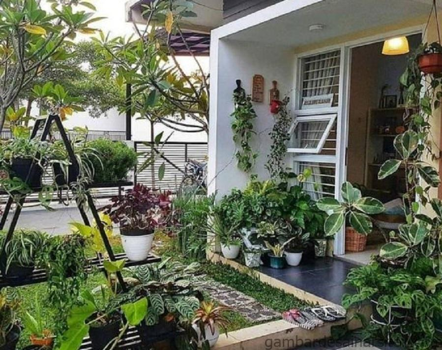 18 inspirasi taman minimalis depan rumah beri kesan asri dan 4