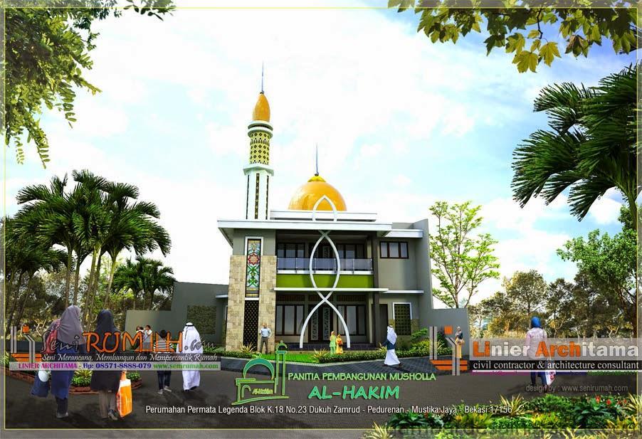 al hakim desain masjid 2 lantai di permata legenda bekasi seni 1 1