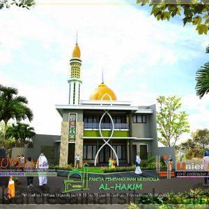 al hakim desain masjid 2 lantai di permata legenda bekasi seni 6 1