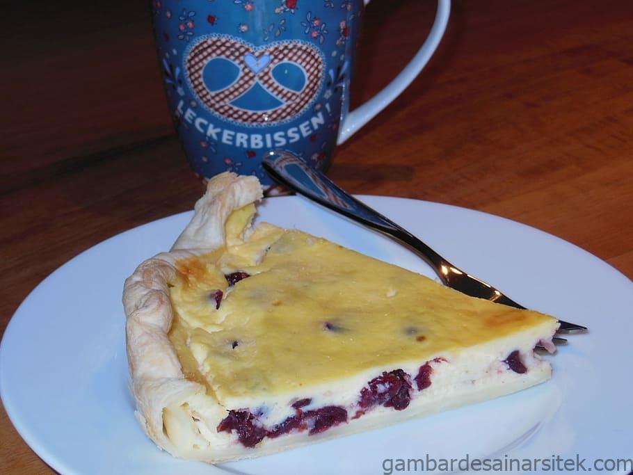 cheesecake cranberry lezat makan kue panggang tee piring 2 1