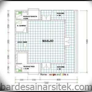 denah masjid 10 x 10 m home design and ideas 2 1