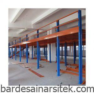 desain gudang penyimpanan multi tingkat struktur baja mezzanine 1