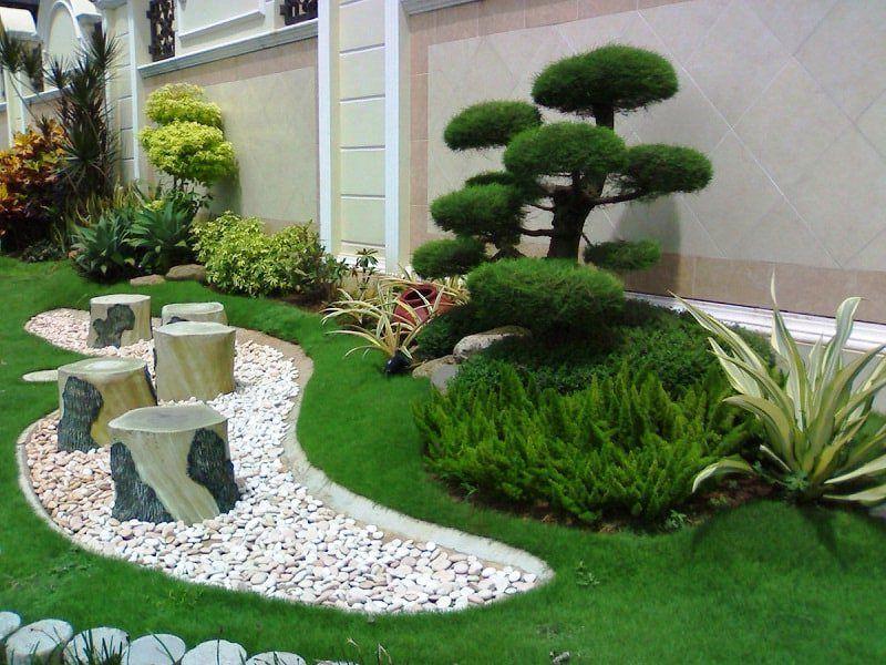 desain taman rumah mewah minimalis bersih dan rapi backyard