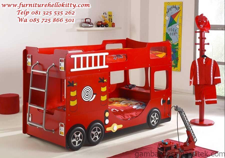 desain tempat tidur anak karakter desainer set tempat tidur 1