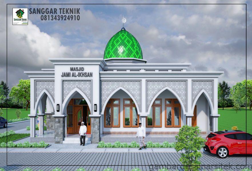 gambar desain masjid minimalis 12x12 gambar arsitektur 2