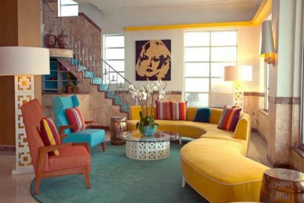 ide terkini desain kantor interior tema retro