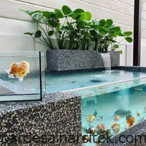 jual kolam ikan koi kaca kota tangerang jihan landscape 2 1