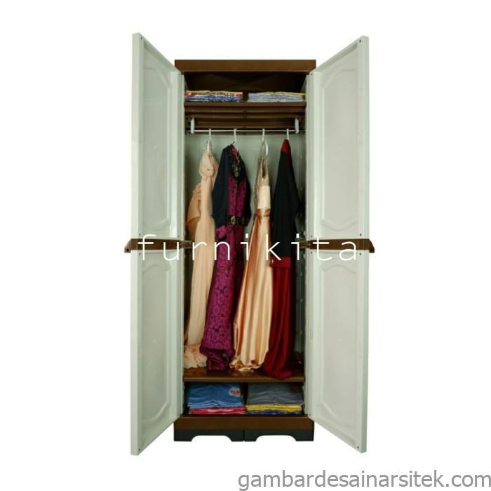 jual lemari plastik dua pintu gantung baju gamis kota tangerang 1 1