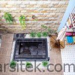 kolam ikan dalam rumah kolam ikan teras halaman belakang gazebo 1