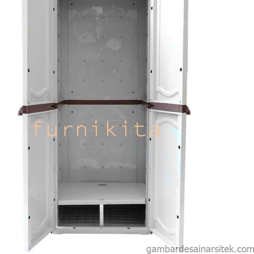 lemari plastik 2 pintu gantung baju gamis shopee indonesia 1