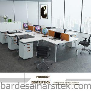 meja staf kantorstasiun kerja karyawandesain meja komputer buy 1 1