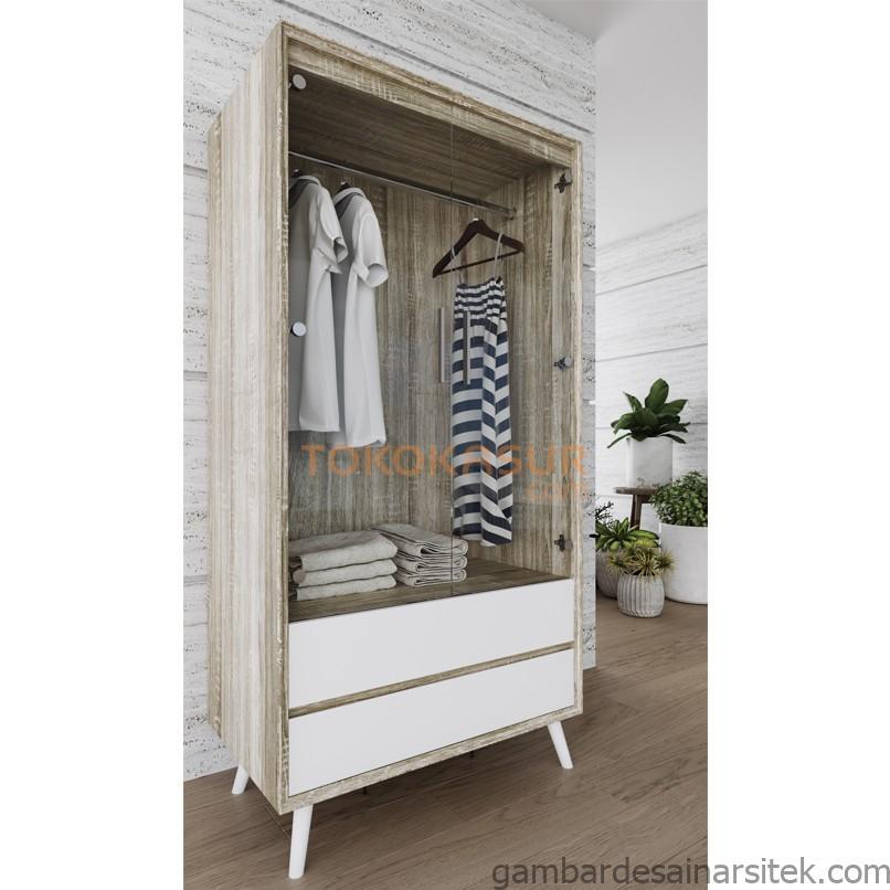 noix series lemari gantungan baju wd 396 khusus jabodetabek 1